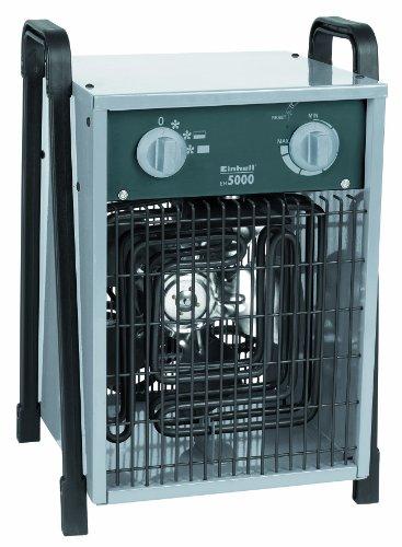 elektrisches heizgeblaese Einhell Elektro Heizer EH 5000 (5000 Watt, 2 Heizstufen und Ventilatorbetrieb, Thermostat, Spritzwasserschutz, Tragegriff, robustes Gehäuse)
