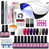 Saint-Acior 10pc Vernis Semi Permanent 36w UV/LED Lampe USB Pour Sécher Vernis A Ongle Soak Off UV...