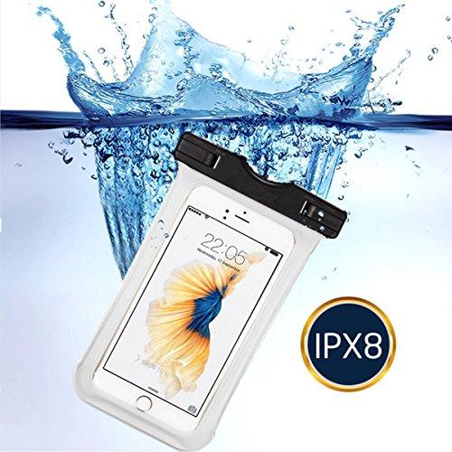 Resistente al agua Teléfono móvil zhixie para iphone 7/7Plus/6/6Plus/6S/5S/Android y otros Smartphone para canotaje/senderismo/natación/buceo, Eco-friendly TPU construcción y IPX8