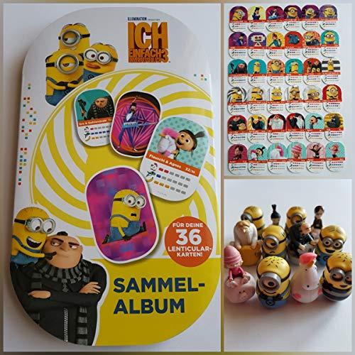 Rewe - Minions - - - Album + Alle 36 Verschiedene Sticker + Alle 12 Verschiedene Figuren - Rundum Alles KOMPLETT (Minion Figuren Verschiedene)