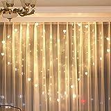 Best Heart To Heart Garden Decors - ADESHOP LED String Lights, Lover Heart Curtain Lights Review