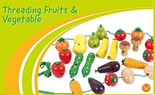Holz Obst und Gemüse Threading Spiel ...