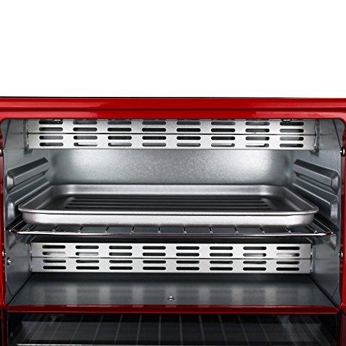 TW24 Backofen - Pizzaofen - Ofen - Backautomat 9 Liter - Mini Backofen 800W mit Farbauswahl (Rot) TW24 Backofen – Pizzaofen – Ofen – Backautomat 9 Liter – Mini Backofen 800W mit Farbauswahl