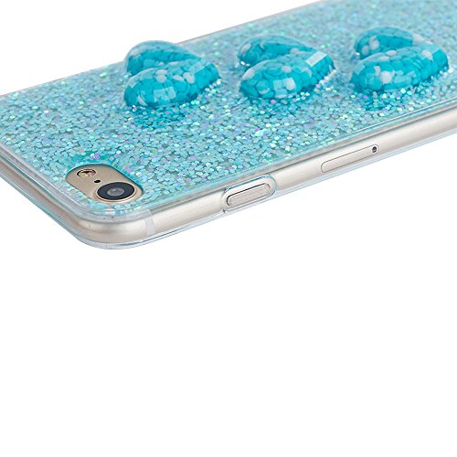 "Soft TPU Silicone Cover pour Apple iPhone 6/6s 4.7"", CLTPY 2in1 Jelly Bling Diamant Série Case avec Plaquage Bord Incurvée Résistant Aux Rayures Couverture pour iPhone 6,iPhone 6s + 1x Stylet - Champa Bleue"