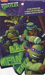 TMNT Teenage Mutant Ninja Turtles 5 Page Sticker Book Nickelodeon