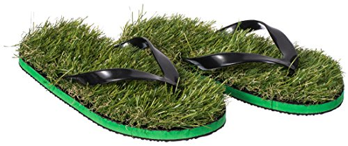 venkon-herbe-tongs-avec-de-gazon-artificiel-gras-flip-flops-pointure-s-env-37-a-39