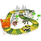 Create-A-Track Jurassic Dino Welt Flexible Track & Light up Auto Spielset