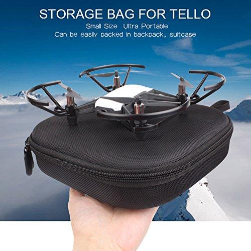 perfectshow DJI Drohne Case Tasche,Tragbare Tragetasche Tragender Koffer Hartschalen für DJI Tello Drohnen Zubehör Case,Wasserdichte Handtasche Schutzhülle schwarz,Portable Travel Storage Bag
