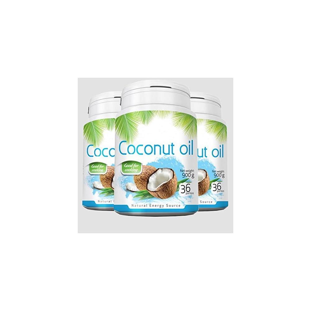 2700g 3x 900g Coconut Oil Kokosl Kokosfett Kokosnussl Geruchlos 100 Natrlich Und Rein Reich An Ungesttigten Fettsuren