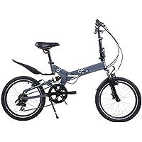 MASLEID aleación de bicicleta plegable mini bici de 7 velocidades de 20 pulgadas , blue gray