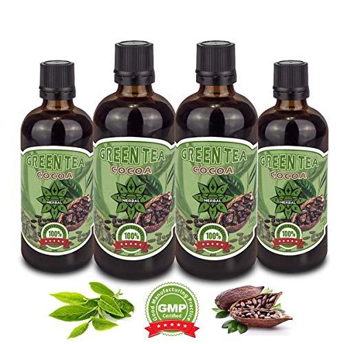 cvetita erbe aromatiche, tè verde + cacao, naturale gestione del peso, siero estratto liquido, potenziatore del metabolismo e bruciatore di grasso termogenico, antiossidante