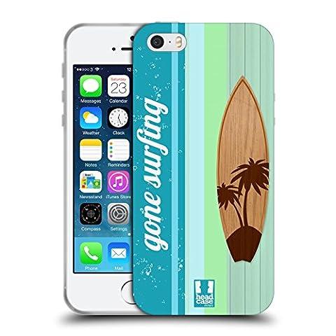 Head Case Designs Palmier Planches De Surf Étui Coque en Gel molle pour Apple iPhone 5 / 5s / SE