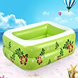 Generic Green : Home Use Portable Baby's Swimming Pool Kids' Inflatable Square Swim Bathing Pool Large Capacity Children's Fancy Swimming Pool