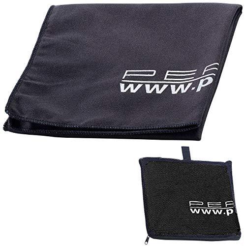 PEARL Extra saugfähiges Mikrofaser-Handtuch 80 x 40 cm, schwarz -