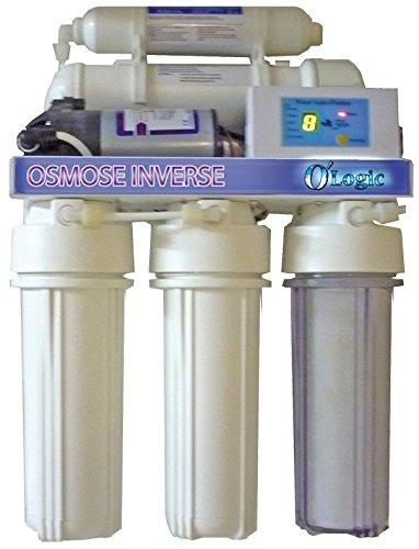 TUBConcept - Osmoseur 5 étages + pompe booster - 50GPD - 180Litres/Jrs