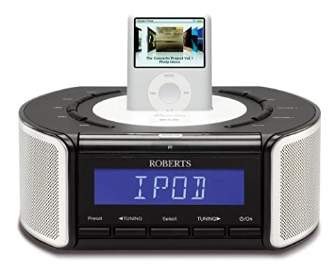 Roberts Idream CRD42 DAB/FM Stereo Clock Radio with Dock for iPod