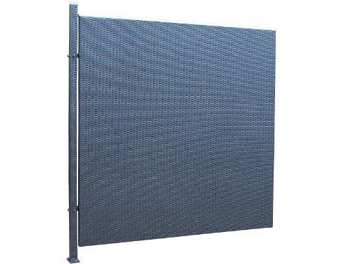 Prime Tech Poly-Rattan Sichtschutz / Zaun, Erweiterungelement 180 cm in schwarz