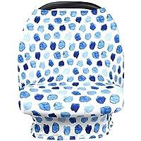 Funda para asiento de coche de bebé, para lactancia – Toldo para asiento de coche para bebé, portátil, multiusos, para lactancia materna, suave y elástico, fácil de cubrir