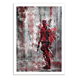 WALL EDITIONS Art-Poster - Deadpool - Wisesnail - Format : 50 x 70 cm