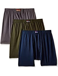 Dollar Bigboss Men's Solid Boxers (Pack of 3)(MDTR-03_Multicolour_X-Large)