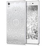 kwmobile Elegante y ligera funda Crystal Case Diseño flor para > Sony Xperia Z5 < en blanco transparente