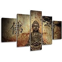 Visario 5502 - Cuadro de tela (5 piezas, 160cm), diseño de Buda