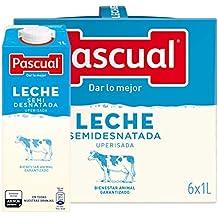 Leche Pascual - Clasica Leche Semidesnatada - 1 L (Paquete de 6)
