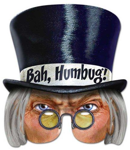 enmaske, Papp Maske, aus hochwertigem Glanzkarton mit Augenlöchern, Gummiband - Grösse ca. 30x21 cm (Humbug Kostüme)
