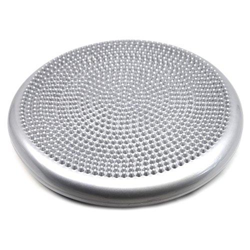 FOURSCOM® Ballsitzkissen Balancekissen Fitnesskissen Massage Discs 33cm grau