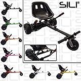 SILI® Off Road Suspension Kart for 2 Wheel Self Balance Scooter, Improved Design with Suspension Under Seat (BLACK)