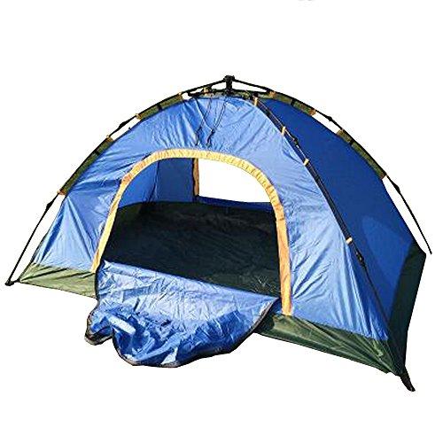 1-2 Personen im Freien Vollautomatisches 2 Sekunden offenes Zelt Camping Camping Angeln Tourist Zelt (Farbe : Navy blau)