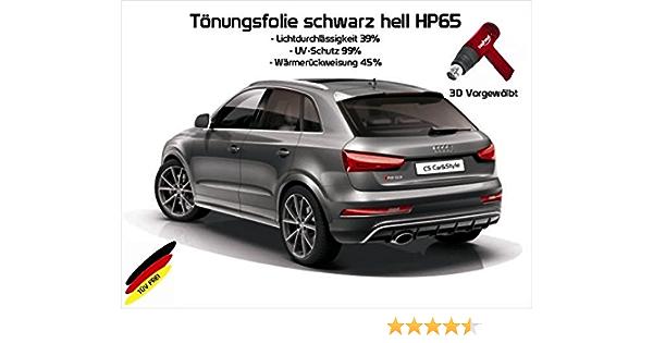 03//2014- 3D Heckscheibenfolie vorgew/ölbt kompatibel mit Mercedes C-Klasse W205 Limousine ab Bj hellschwarz HP 65 Lichtdurchl/ässigkeit 35/% W/ärmer/ückweisung 45/% Passgenaue T/önungsfolien