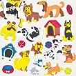Autocollants Chiens en Mousse Adorables avec lesquels les Enfants pourront D�corer et Personnaliser leurs Cartes, Loisirs cr�atifs et Collages d'�t� (Lot de 120)