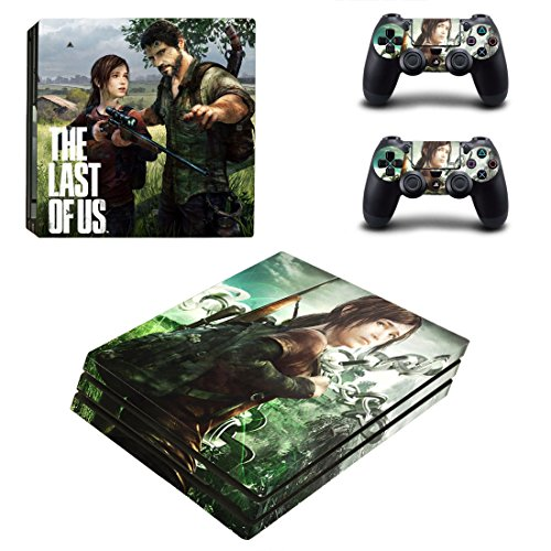Playstation 4 Pro + 2 Controller Aufkleber Schutzfolien Set - The Last of Us (2) /PS4 P