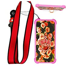 Funda para Lg Swift L5 Dual E615 Funda Silicone Border + Placa dura de la PC Stand Carcasa Case Cover MG