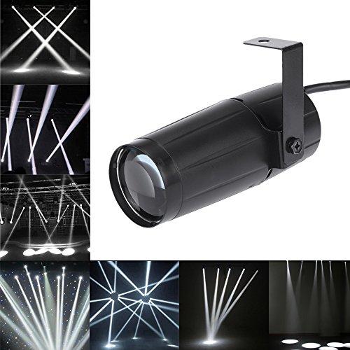 Docooler Spotlight total 5W LED Blanco Beam Pinspot Súper Lligero Lámpara Brillante Bolas de Espejo