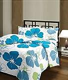 Plush Home Blue Flowers Ac Blanket (Mate...