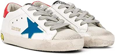 Golden Goose Luxury Fashion Bambino G36KS001B43 Bianco Pelle Sneakers | Ss21