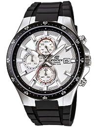 Casio Edifice EFR-519-7AVEF - Reloj analógico de cuarzo para hombre, correa de resina color blanco (cronómetro, agujas luminiscentes)