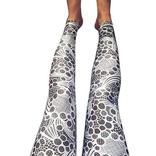 Ausverkauf! Damen Drucken Sport Leggings, LEEDY Hohe Taille Yoga Hose Sporthose Skinny Pants Stretch Slim Bleistift Hose