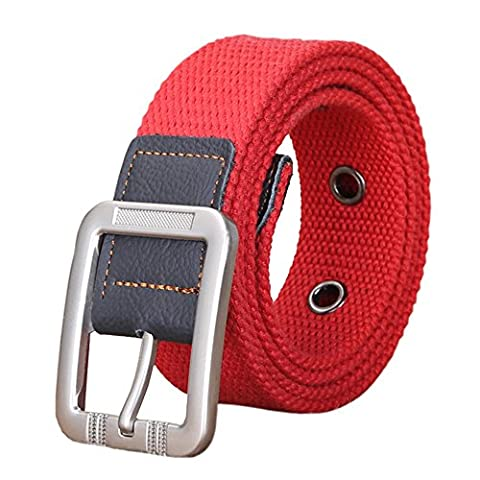 Canvas Belt,Military Style,Woven Webbing Cotton Jeans Belt for Men and Women