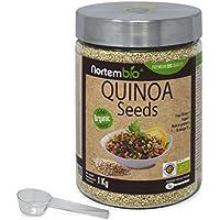 Graines de Quinoa Naturel NortemBio 1Kg, Qualité Supérieure. Excellente Source de Protéines et de Vitamines.