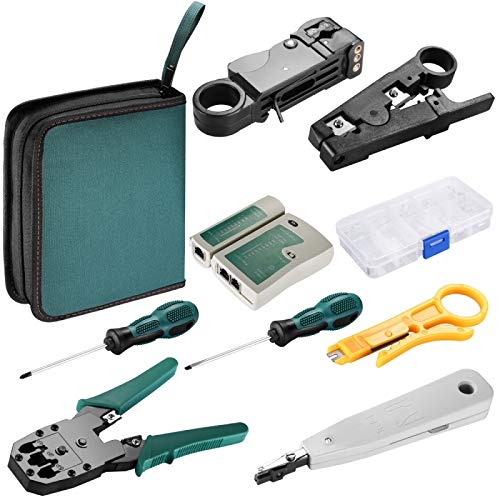 ALLSHOPSTOCK (#24 8 in 1 Netzwerk Kabel Tester Wire Crimp LAN RJ45 RJ11 CAT5 Analyzer Tool Kit - Netzwerk-kabel-analyzer