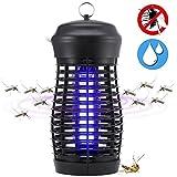 QcoQce Insektenvernichter, Mückenlampe wasserdichte Insektenfalle - IPX4, eine leistungsstarke 9W Leuchtstoffröhre, effektive Bekämpfung von fliegenden Insekten, um Mückenstiche zu vermeiden.