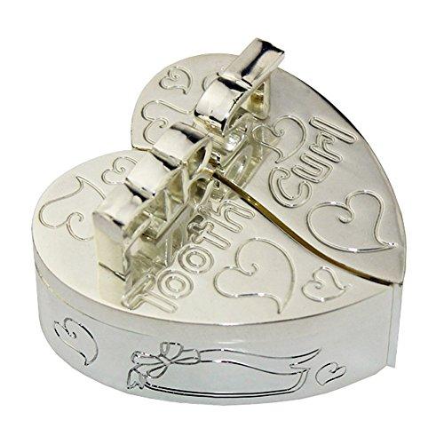 Tooth Box, FGF dente Trinket a forma di cuore con le parole Modello n RKS-TB001d