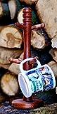Tassenhalter aus Buchenholz für 6 Tassen Becherständer Massivholz Kaffee Tee Tassen