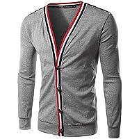 GS~LY Maglioni uomo MEN - Giacche e cappotti - Informale / Lavoro Scollo a V - Maniche lunghe Cotone / Raion , black , xxl