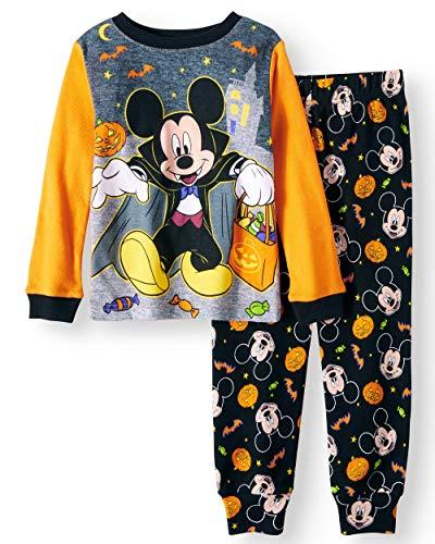 Disney Mickey Mouse Little Boys Toddler Halloween Pajama Set (2T)
