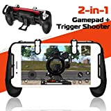 Mobile Game Controller 2018 für PUBG /Rules of Survival/Fortnite 2in1 by [YouFirst]/ L1R1 ,Trigger und Gamepad für PUBG MOBILE / Fortnite / Rules of Survival / Knives Out / Survivor Royale /Critical Ops /Mobile Gaming Joysticks/ Für Android und IOS