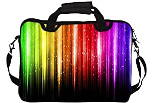 "Snoogg Abstract Multicolor Design 10"" 10.5"" 10.6"" inch Laptop Notebook SlipCase With Shoulder Strap Handle Sleeve Soft Case With Shoulder Strap Handle Carrying Case With Shoulder Strap Handle for Macbook Pro Acer Asus Dell Hp Sony Toshiba"